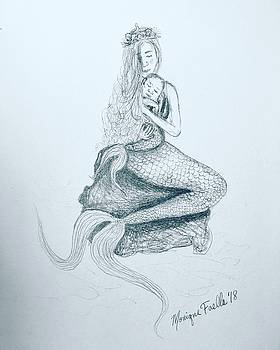Motherhood Mermaid by Monique Faella