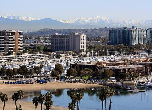 Mothers Beach and the San Gabriel Mountains  by Victoria  Johns