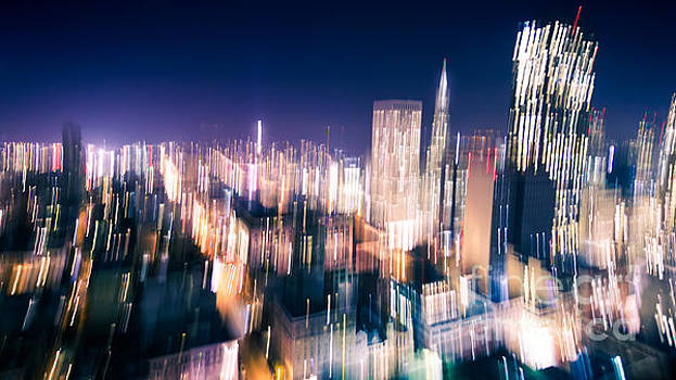 Motion Blur of City Lights by Engel Ching