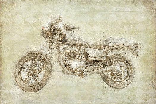 Motorcycle Sepia by Ramona Murdock