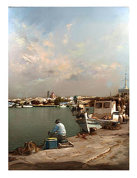 Moudania,harbour by Demetrios Vlachos