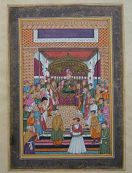 Moughal Court Scene by Unknown