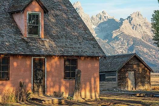 Moulton Homestead - Pink House at Morning Light by Colleen Coccia
