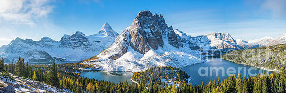 Mount Assiniboine Panorama by Michael Wheatley