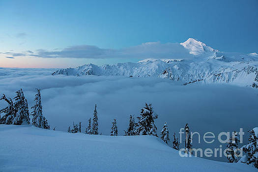 Mount Baker Artists Point Snowscape by Mike Reid