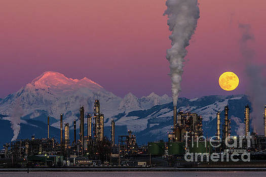 Paul Conrad - Mount Baker, Refinery, and the Wolf Moon