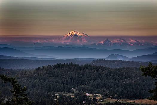 Mount Baker Sunset by Thomas Ashcraft