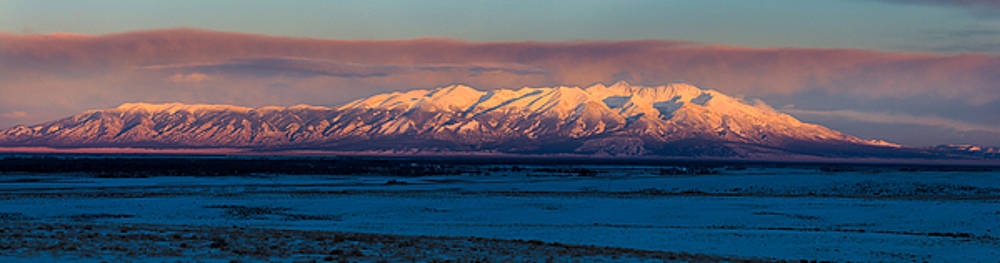 Mount Blanca Sangre de Cristo Mountains at Sunset with Glow by John Brink
