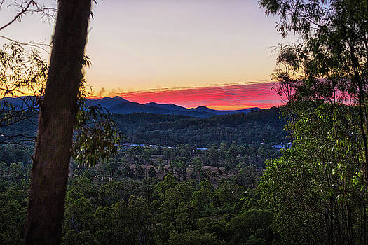 Mount Coot Tha Sunset by Chris Hood