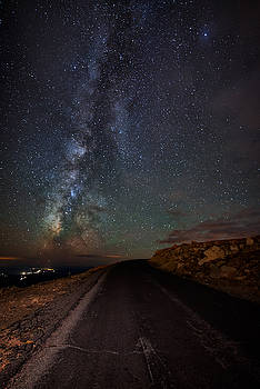 Mount Evans Road To The Milky Way by Mike Berenson