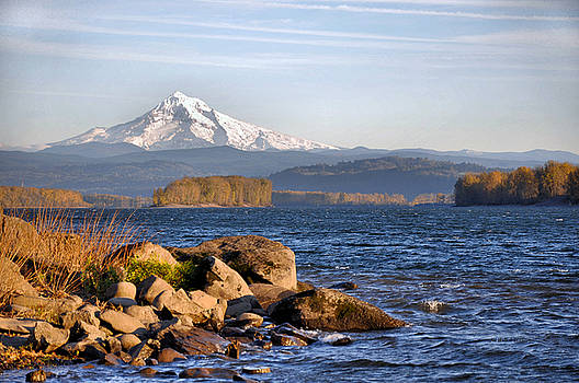 Mount Hood and the Columbia River by Jim Walls PhotoArtist