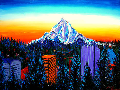 Mount Hood At Dusk 16 by Portland Art Creations