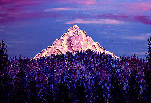 Mount Hood At Dusk #35 by Portland Art Creations