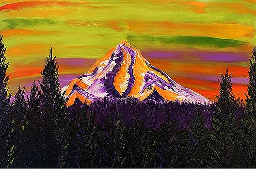 Mount Hood At Dusk 36 by Portland Art Creations