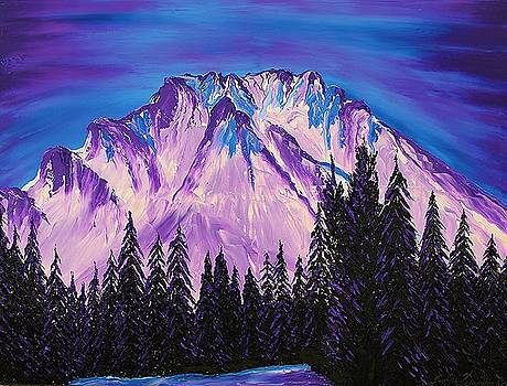 Mount Hood At Dusk #37 by Portland Art Creations