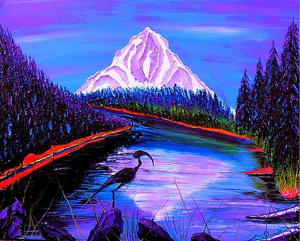 Mount Hood At Dusk #42 by Portland Art Creations