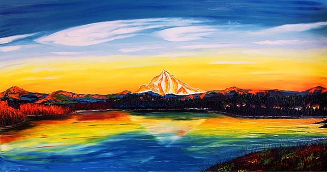 Mount Hood At Dusk #45 by Portland Art Creations