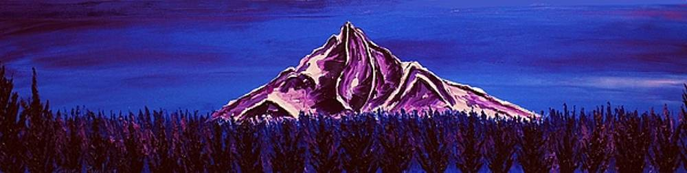 Mount Hood At Dusk #48 by Portland Art Creations