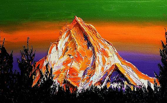 Mount Hood At Dusk #50 by Portland Art Creations