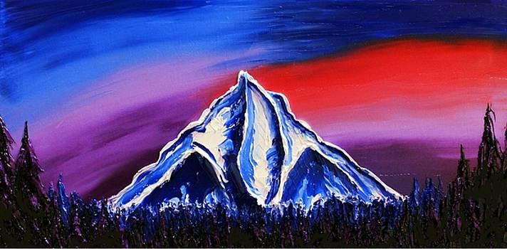Mount Hood At Dusk #60 by Portland Art Creations