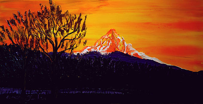 Mount Hood AT Dusk12 by Portland Art Creations