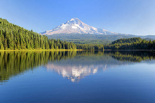 Mount Hood on a Sunny Day by David Gn