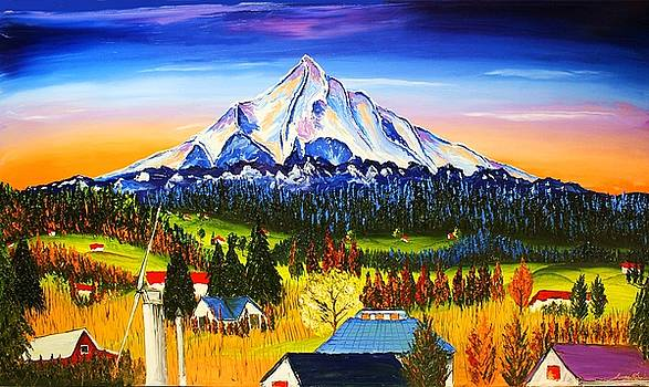 Mount Hood River Valley #1. by Portland Art Creations