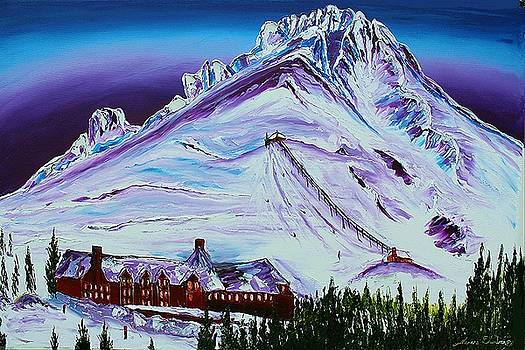Mount Hoods Over Timber Lodge Sky Lift by Portland Art Creations