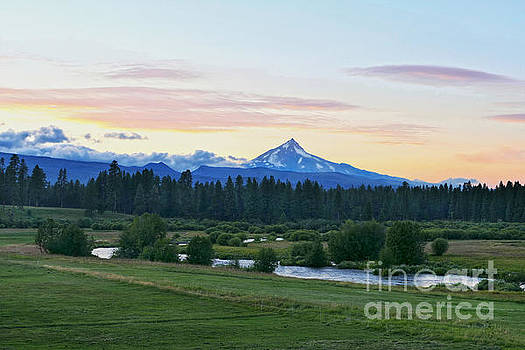 Mount Jefferson at Sunset by Catherine Sherman