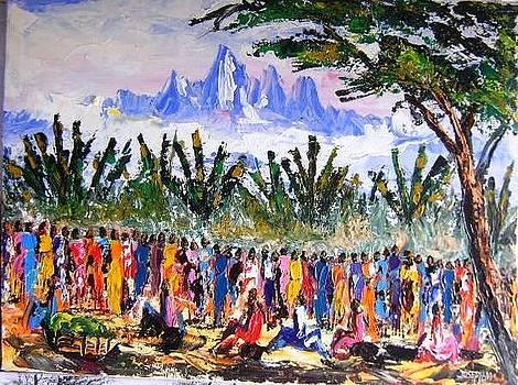 Mount Kenya Market Day by Joseph Muchina