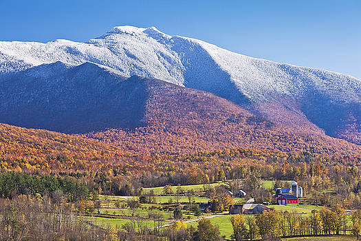 Mount Mansfield Autumn Snowfall by Alan L Graham