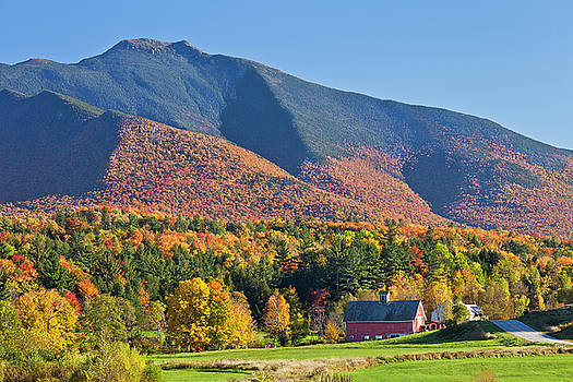 Mount Mansfield Autumn View by Alan L Graham