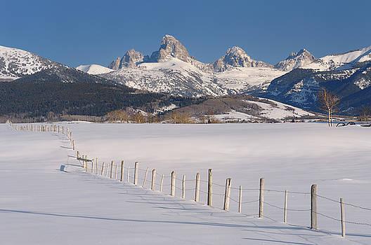Reimar Gaertner - Mount Owen Grand Teton Middle Teton and South Teton in winter fr