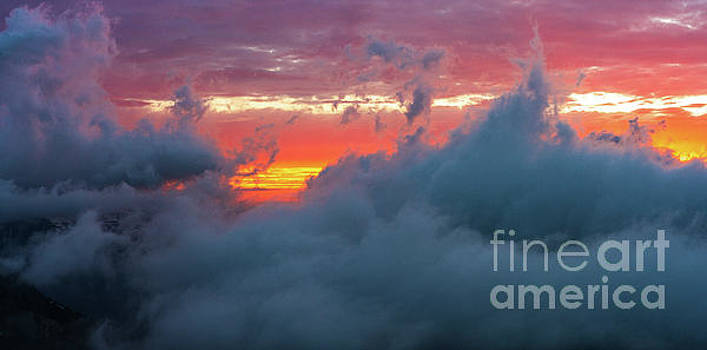 Mount Rainier National Park Above the Clouds at Sunset 2 by Mike Reid