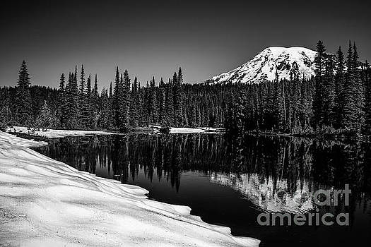 Mount Rainier Reflection by DS Dodd