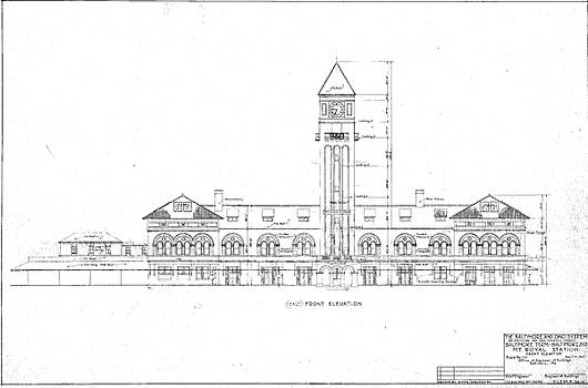 Mount Royal Station by Baltimore and Ohio Railroad