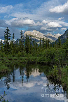 Mount Rundle Reflection by Mike Reid