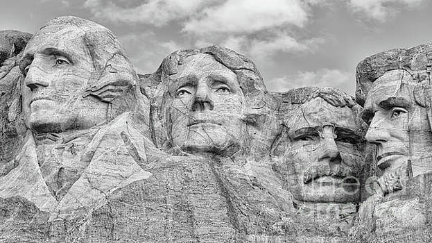Mount Rushmore BW by Jerry Fornarotto