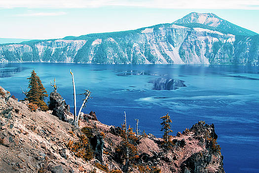 Mount Scott Behind Crater Lake by Frank Wilson