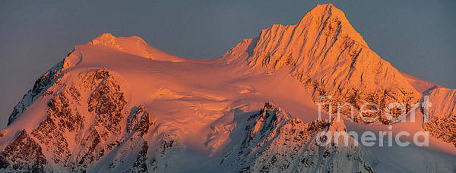 Mount Shuksan Alpenglow Panorama by Mike Reid