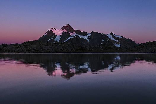 Paul Conrad - Mount Shuksan Alpenglow Reflection