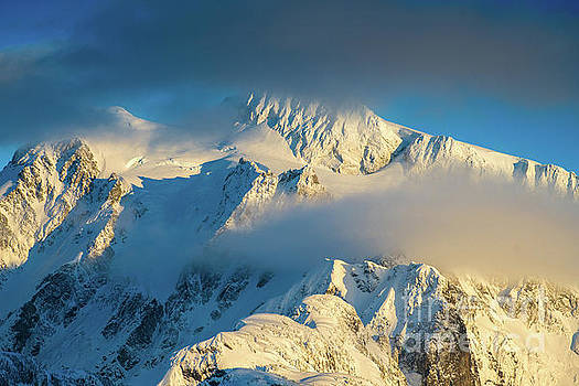 Mount Shuksan Dusk Details by Mike Reid