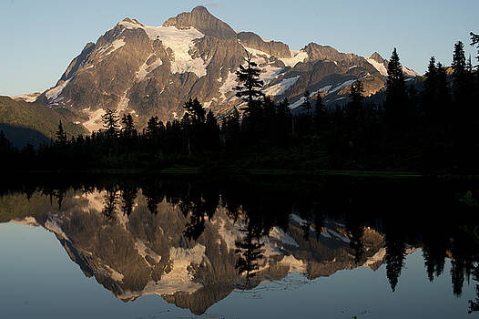 Mount Shuksan Golden Hour Reflections by Matt McDonald