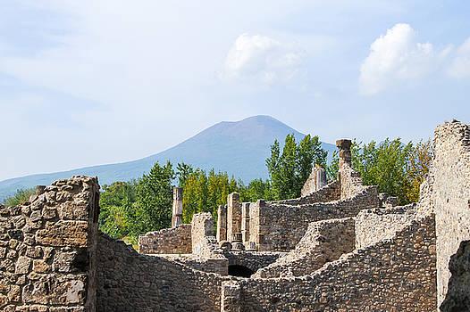 Allan Levin - Mount Vesuvius Beyond the Ruins of Pompei