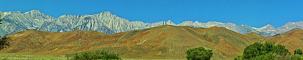 Mount Whitney Panorama by L J Oakes