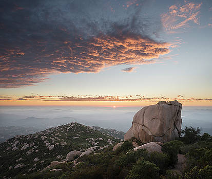 Mount Woodson Rock and Sunset by William Dunigan