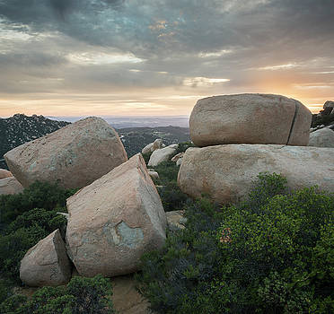Mount Woodson Sunset Clouds by William Dunigan