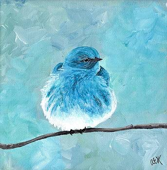 Mountain Bluebird by Anne Hockenberry