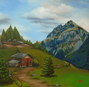 Mountain Cabin by Michael Harris