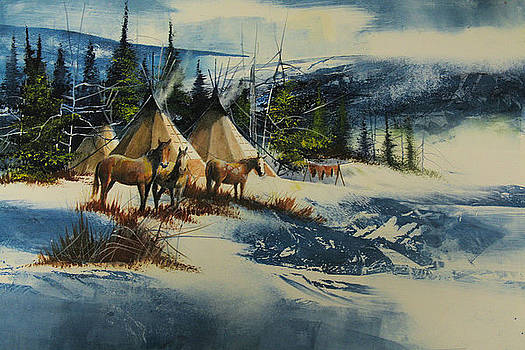 Mountain Camp by Robert Carver